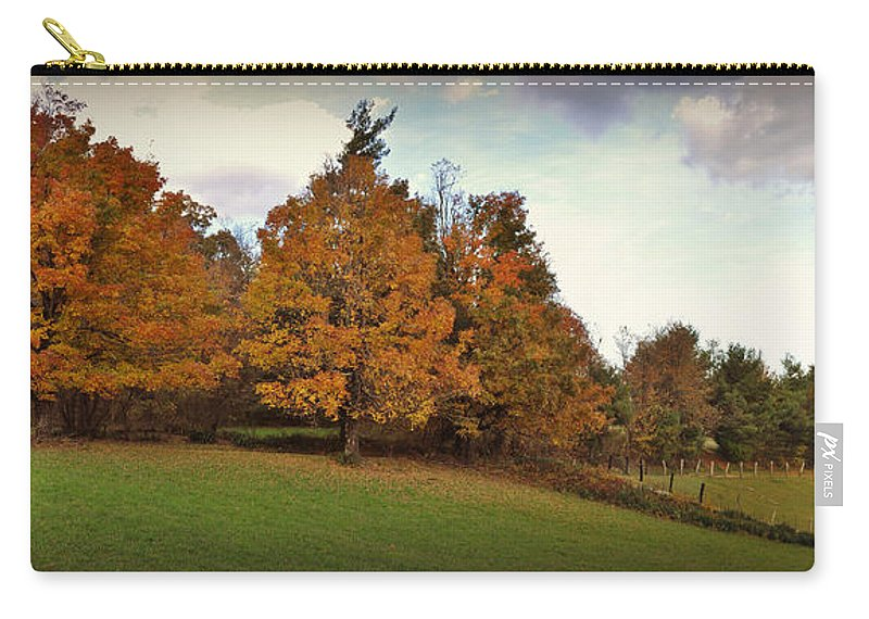 Panoramic Carry-all Pouch featuring the photograph Parkway Panoramic by Eric Liller