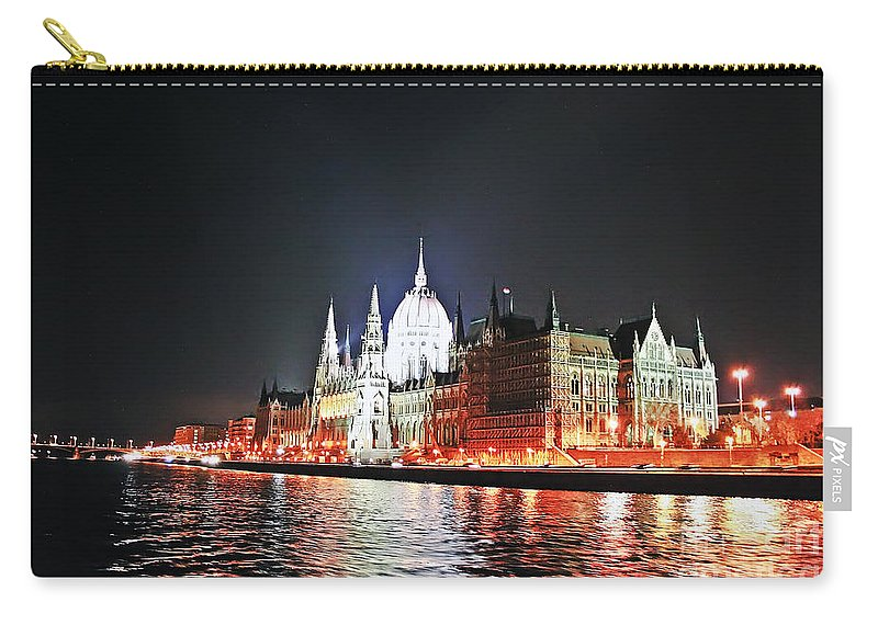 Travel Carry-all Pouch featuring the photograph Parliament And The Danube by Elvis Vaughn