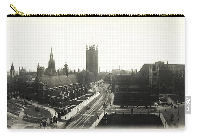 Parliament Carry-all Pouch featuring the photograph Parliament Square London 1890 by Bill Cannon