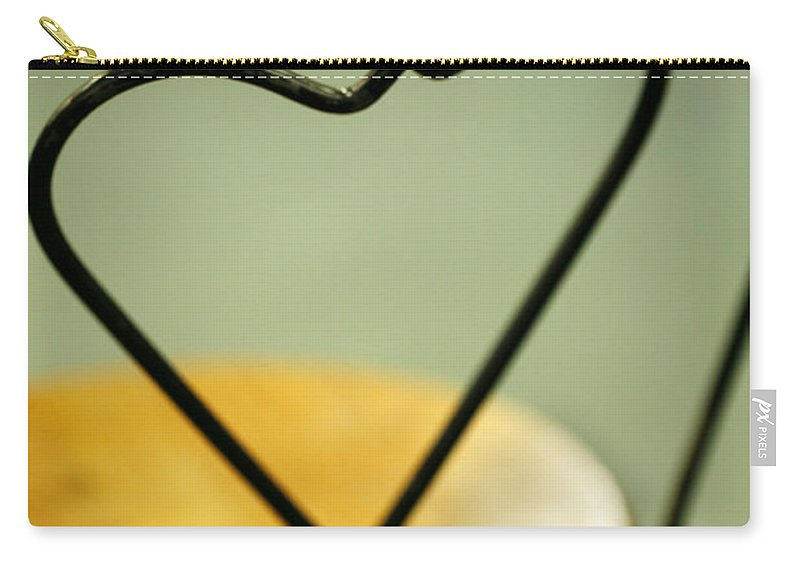 Parlor Carry-all Pouch featuring the photograph Parlor Chair heart by Marilyn Hunt