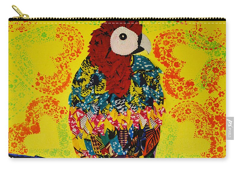 Animals Carry-all Pouch featuring the tapestry - textile Parrot Oshun by Apanaki Temitayo M