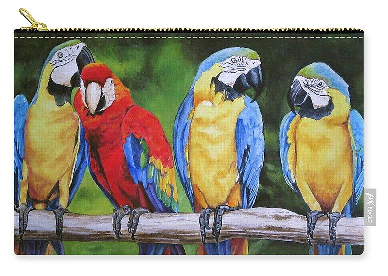 Parrots Party Line Carry-all Pouch