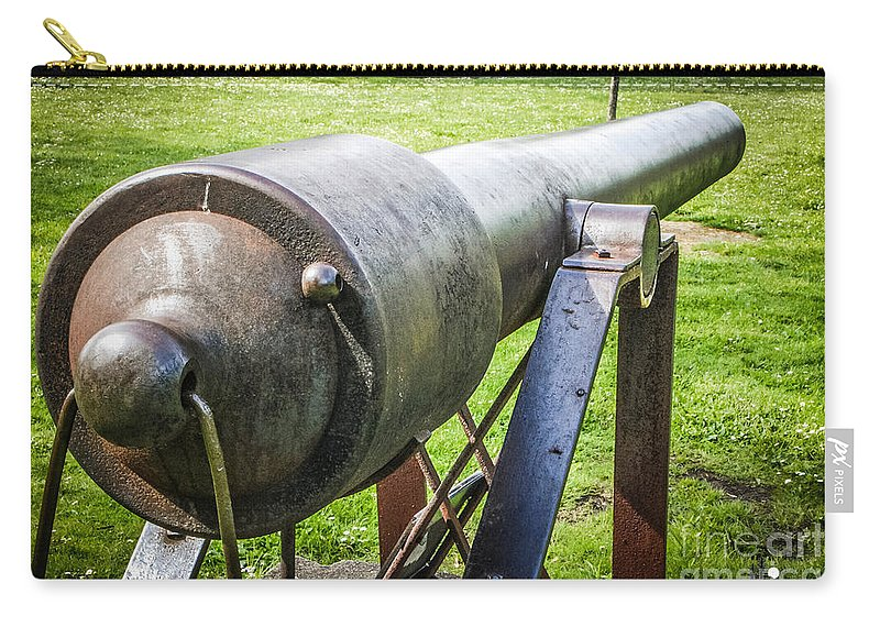 Eaton Rapids Carry-all Pouch featuring the photograph Parrott Rifle by Grace Grogan