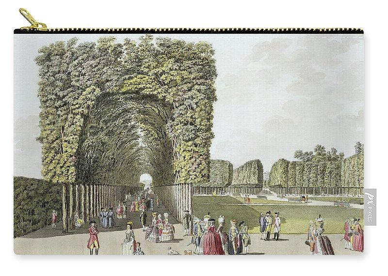Austrian Gardens Carry-all Pouch featuring the painting Part Of The Garden At Ausgarten by Johann Ziegler