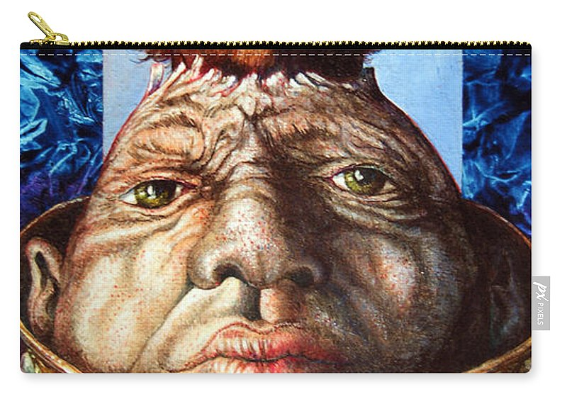 Surrealism Carry-all Pouch featuring the painting Parthenogenesis II by Otto Rapp