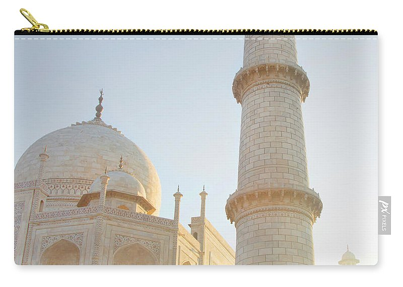 Arch Carry-all Pouch featuring the photograph Partial View Taj Mahal by Grant Faint