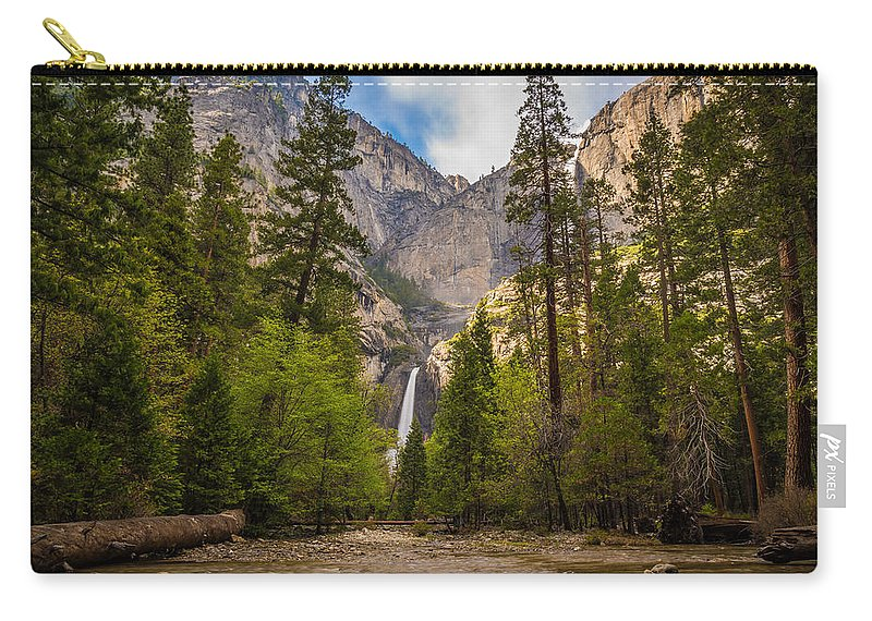 Yosemite Carry-all Pouch featuring the photograph Parting Trees by Kristopher Schoenleber