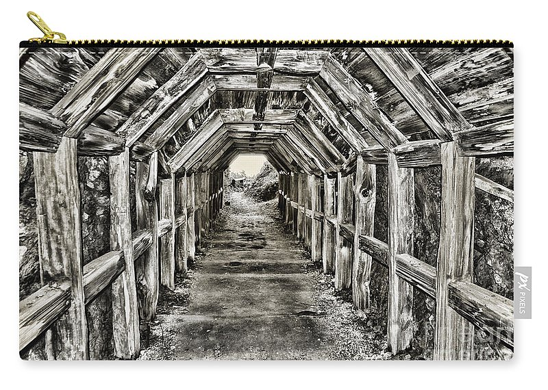 Partington Cove Carry-all Pouch featuring the photograph Partington Cove Tunnel By Diana Sainz by Diana Raquel Sainz