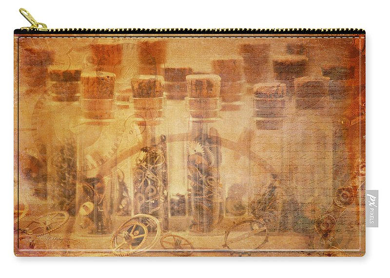 Horology Carry-all Pouch featuring the photograph Parts Of Time by Fran Riley