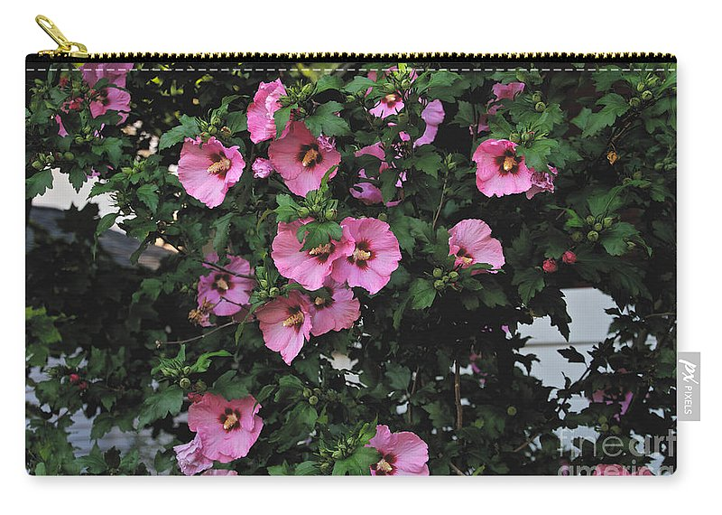 Pink Carry-all Pouch featuring the photograph Party In The Neighborhood by William Norton