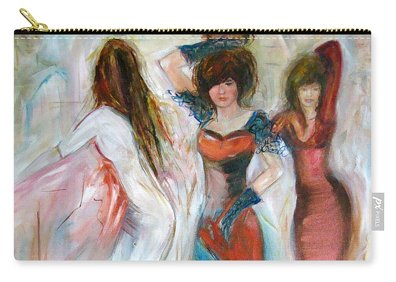 Contemporary Art Carry-all Pouch featuring the painting Party Time by Silvana Abel