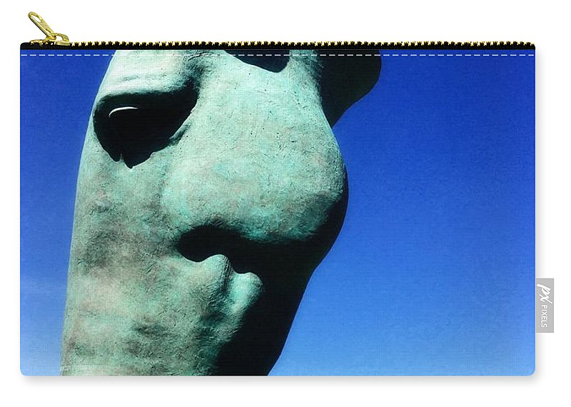 Parx Casino Carry-all Pouch featuring the photograph Parx Horse by Alice Gipson
