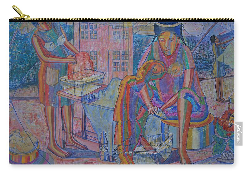Johnpowellpaintings Carry-all Pouch featuring the painting Passage by John Powell