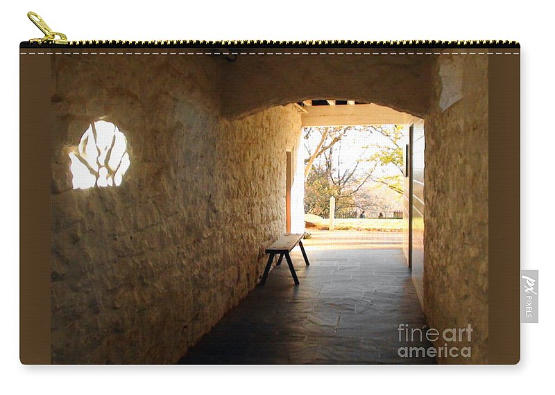 Photo Carry-all Pouch featuring the photograph Passageway At Monticello by Karen Francis