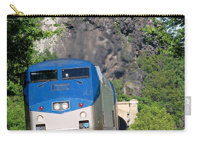 Locomotive Carry-all Pouch featuring the photograph Passenger Train Locomotive by Olivier Le Queinec