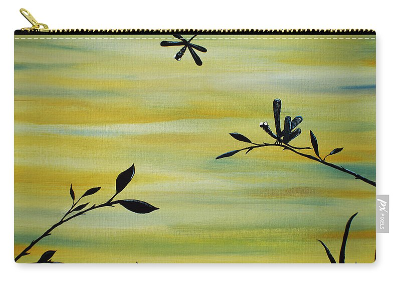 Acrylic Painting Carry-all Pouch featuring the painting Passing Through by Sherry Allen