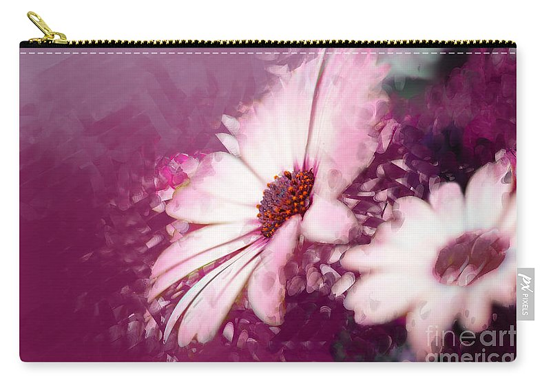 Daisy Carry-all Pouch featuring the photograph Passion by Betty LaRue