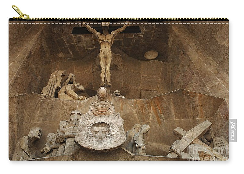 Passion Facade Carry-all Pouch featuring the photograph Passion Facade Barcelona by Bob Christopher