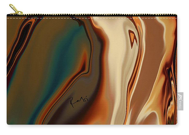 Abstract Carry-all Pouch featuring the digital art Passionate Kiss by Rabi Khan