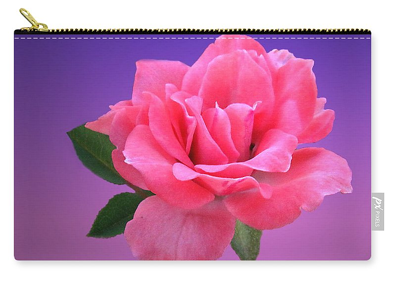 Rose Carry-all Pouch featuring the photograph Passionate Pink by Joyce Dickens