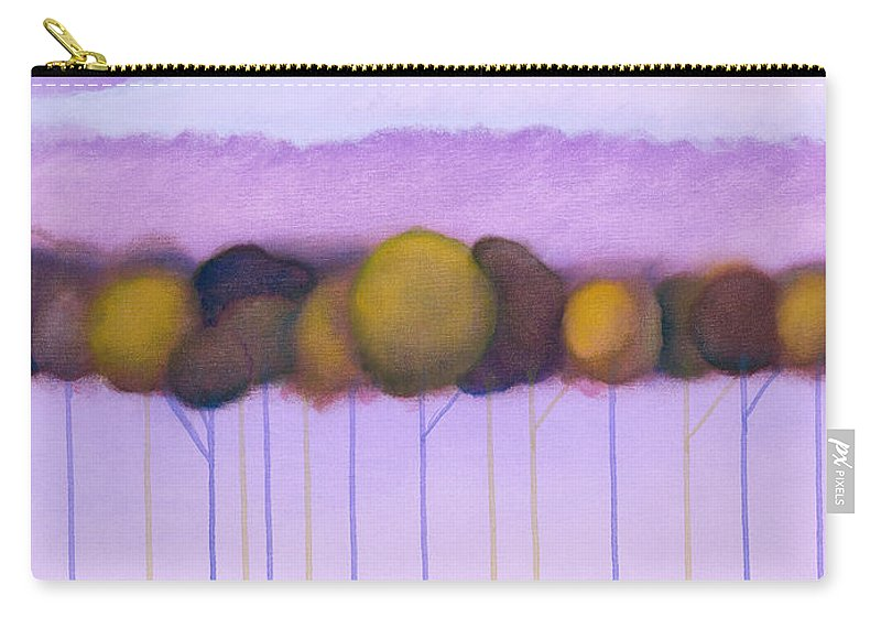 Colorchrome Atlanta Scans Carry-all Pouch featuring the painting Passionate Twilight Vii by Jerome Lawrence
