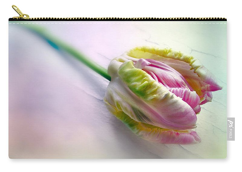 Nature Carry-all Pouch featuring the photograph Pastel Parrot Tulip by Jessica Jenney