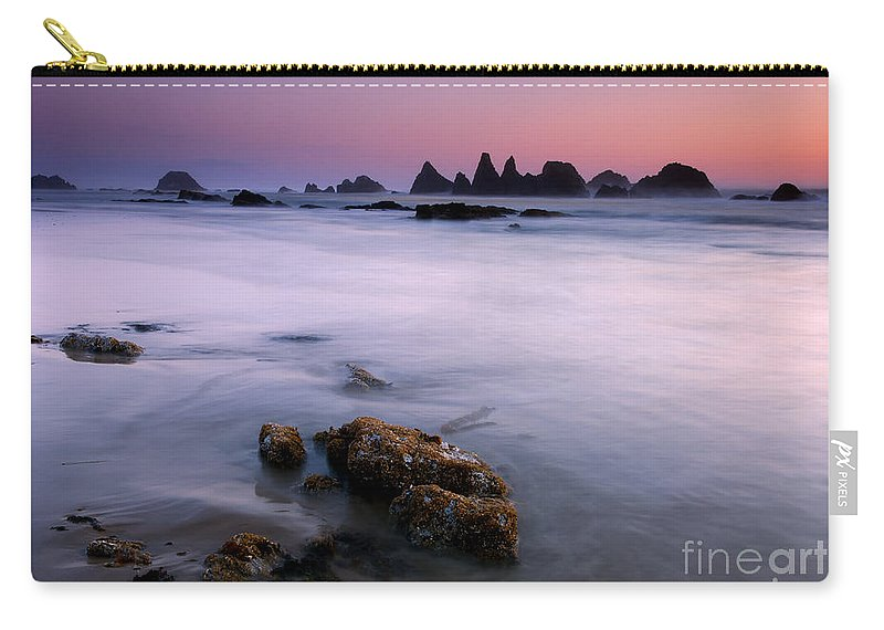 Seal Rock Carry-all Pouch featuring the photograph Pastel Sea by Mike Dawson