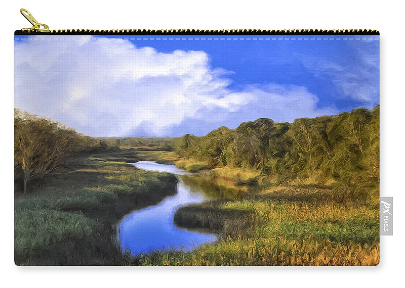 Meadow Carry-all Pouch featuring the painting Pastoral by Dominic Piperata
