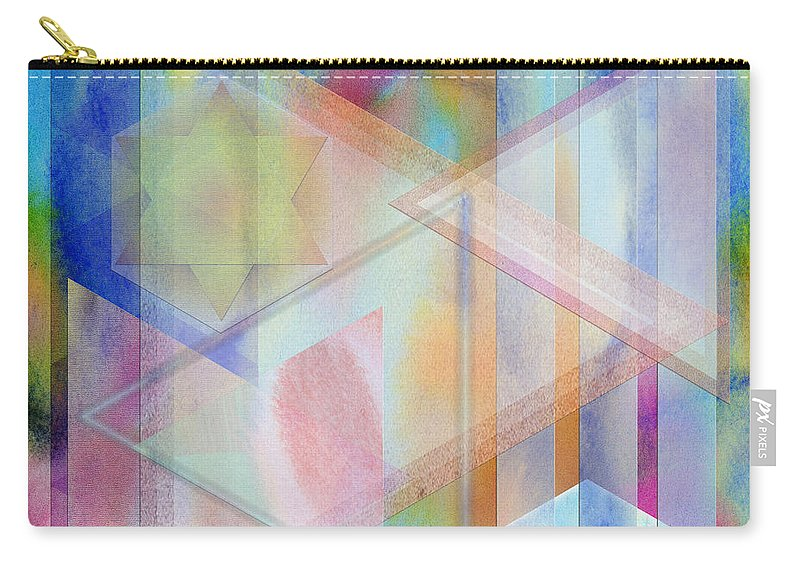 Pastoral Moment Carry-all Pouch featuring the digital art Pastoral Moment - Square Version by John Robert Beck