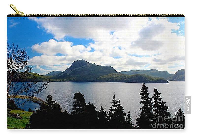 Pastoral Scene By The Ocean Painterly Carry-all Pouch featuring the photograph Pastoral Scene By The Ocean Painterly by Barbara Griffin