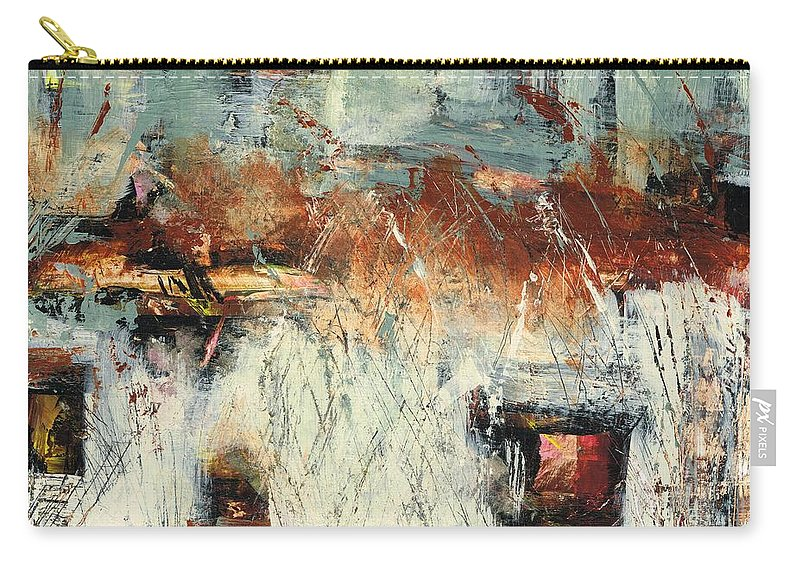 Abstract Landscapes Carry-all Pouch featuring the painting Pasture Grasses by Frances Marino