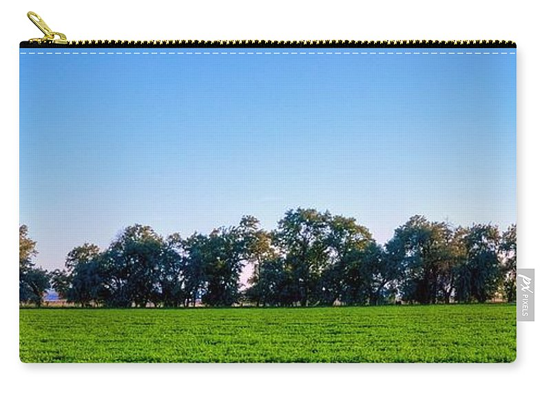 Tree Carry-all Pouch featuring the photograph Pasture Tree Line Summer 15798 by Jerry Sodorff