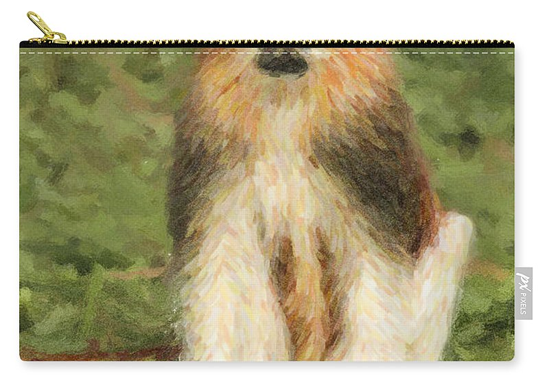 Patas Monkey Carry-all Pouch featuring the digital art Patas Monkey Erythrocebus Patas by Liz Leyden