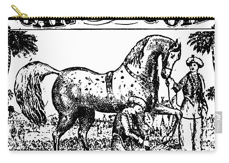 1840 Carry-all Pouch featuring the photograph Patent Medicine, C1840 by Granger