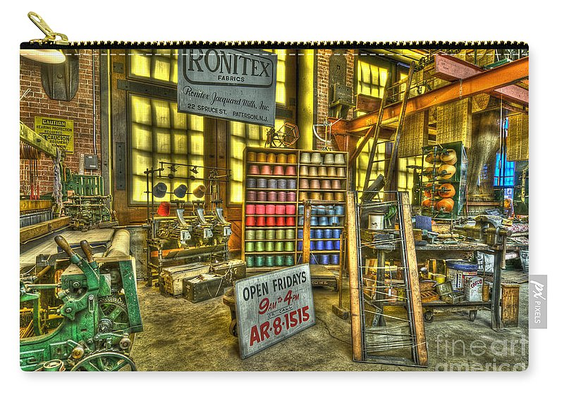 Paterson Carry-all Pouch featuring the photograph Paterson Silk Mill by Anthony Sacco