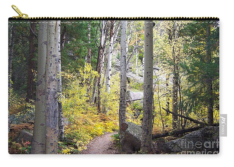 Aspens Carry-all Pouch featuring the digital art Path Of Peace by Margie Chapman