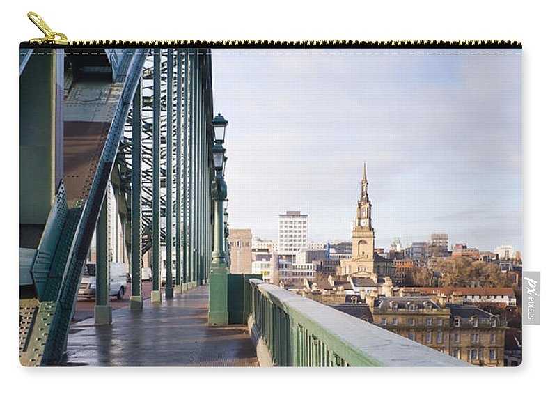Arch Carry-all Pouch featuring the photograph Path On Tyne Bridge by David Head