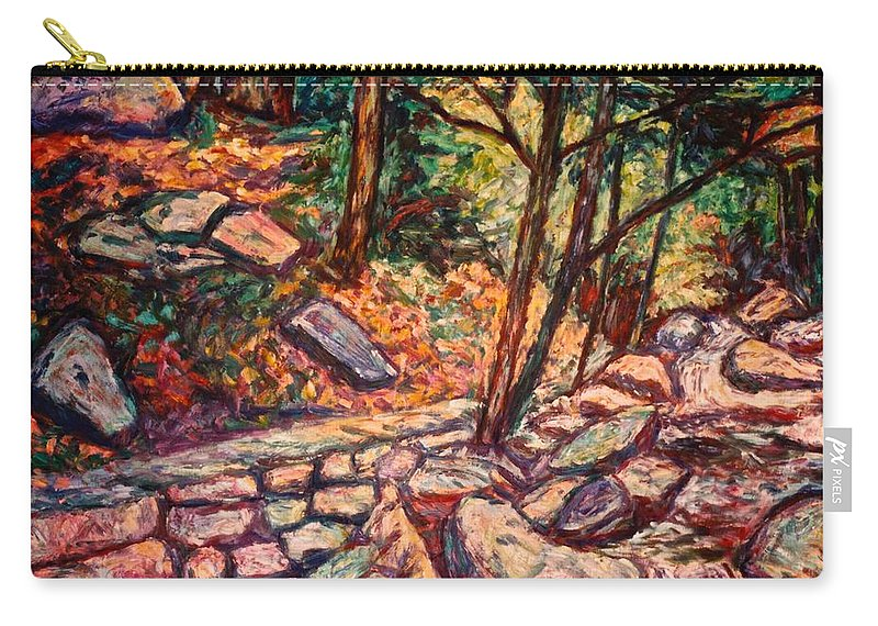 Landscape Carry-all Pouch featuring the painting Path To The Cascades by Kendall Kessler