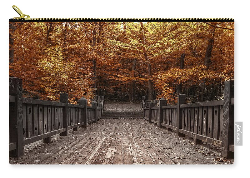 Landscape Carry-all Pouch featuring the photograph Path To The Wild Wood by Scott Norris