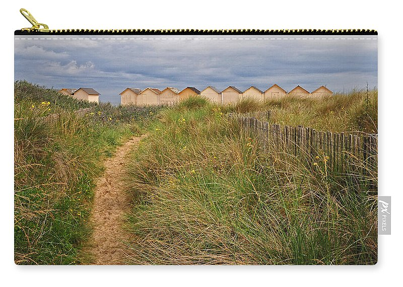 Path Carry-all Pouch featuring the photograph Pathway To The Cabanas by Dave Mills