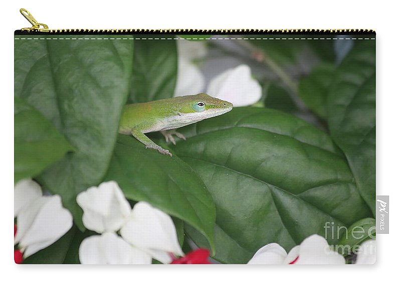Lizzard Carry-all Pouch featuring the photograph Patient Hunter by Marty Fancy