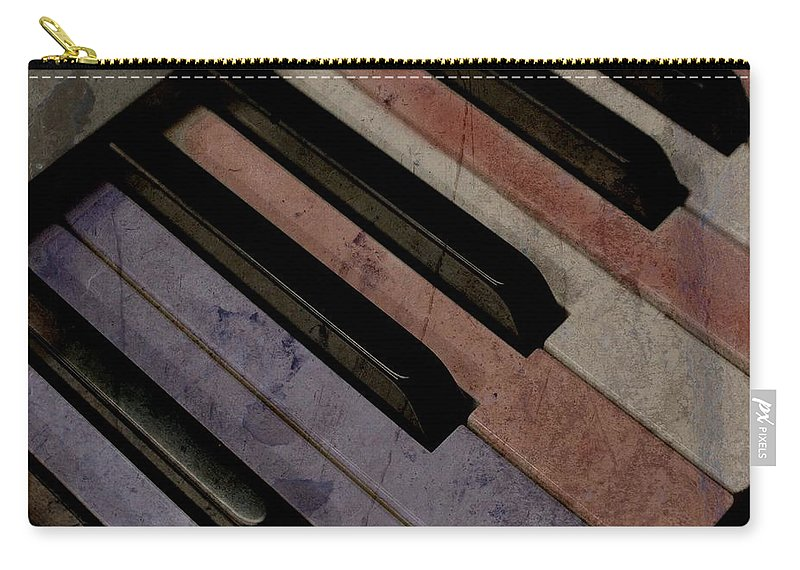 Music Carry-all Pouch featuring the photograph Patriotic Key by Photographic Arts And Design Studio