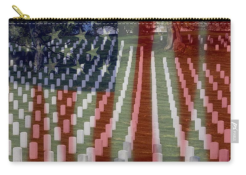 Patriotism Carry-all Pouch featuring the photograph Patriotism by Patti Whitten