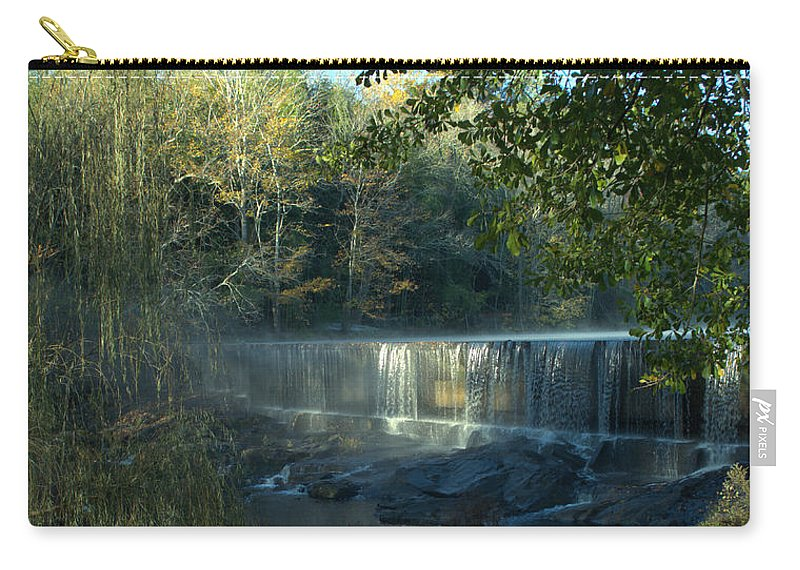Morning Carry-all Pouch featuring the photograph Patsiliga Creek Falls by Donna Brown