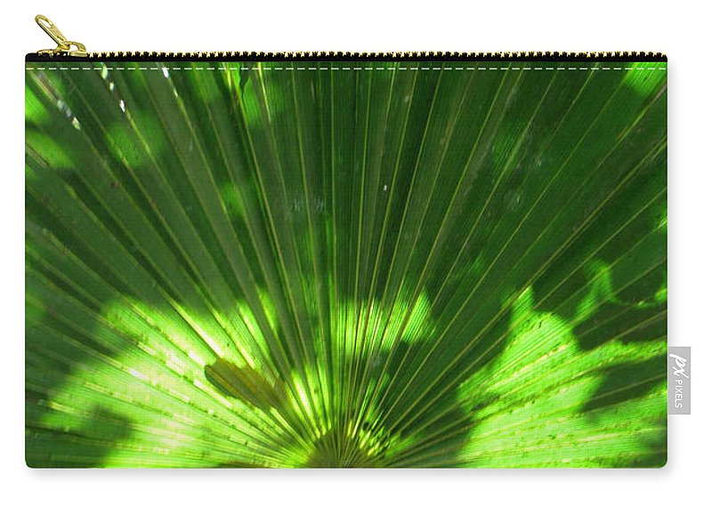 Green Carry-all Pouch featuring the photograph Green Plant Pattern by Bob Slitzan