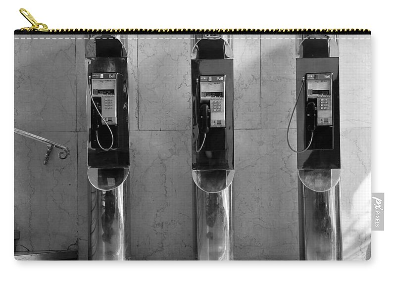 Phone Carry-all Pouch featuring the photograph Pay Phones 2b by Andrew Fare