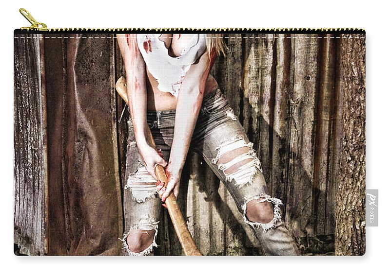 Abuse Carry-all Pouch featuring the photograph Payback by Jt PhotoDesign