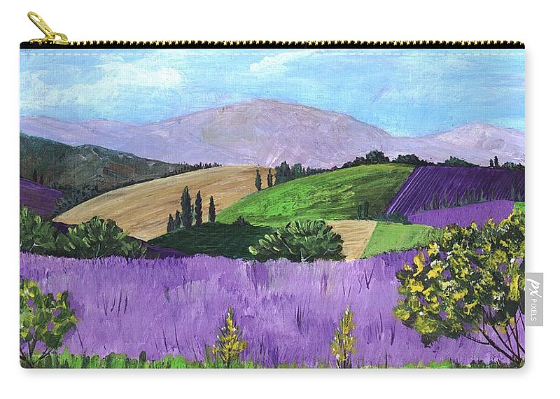 Malakhova Carry-all Pouch featuring the painting Pays De Sault by Anastasiya Malakhova