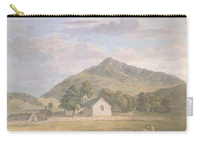 Welsh Carry-all Pouch featuring the painting Haymaking At Dolwyddelan by Paul Sandby