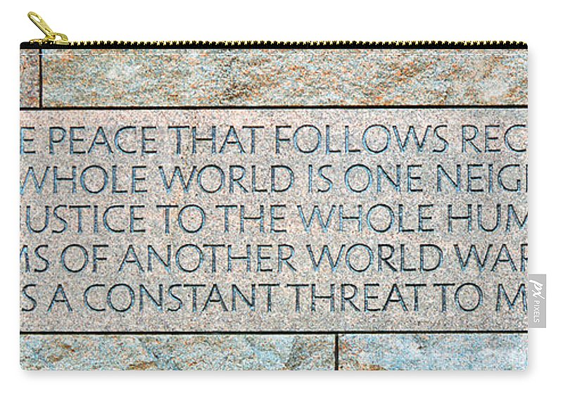 Words Carry-all Pouch featuring the photograph Peace by Cindy Manero